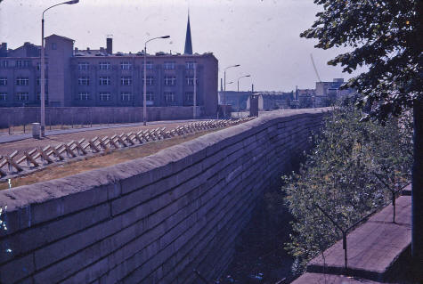 Divided Government >> Berlin Wall Death Strip Separating East and West Berlin