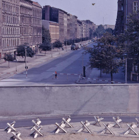 Overlooking the Berlin Wall into East Germany
