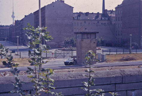 East German Border Guards Patrolling the Berlin Wall